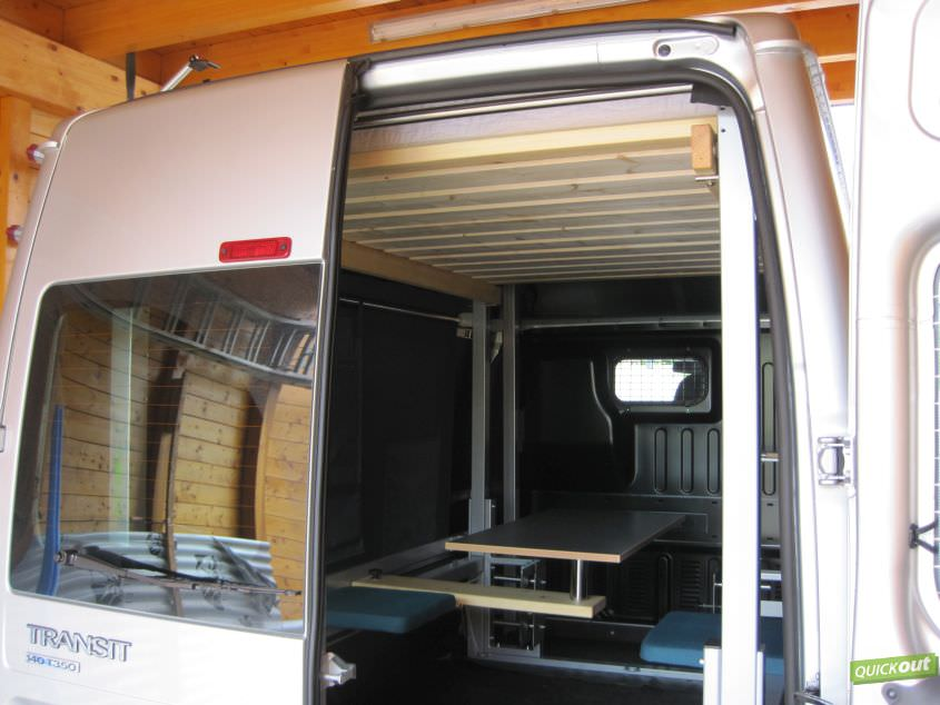 hubbett ford transit quickout wohnmobilausbau. Black Bedroom Furniture Sets. Home Design Ideas