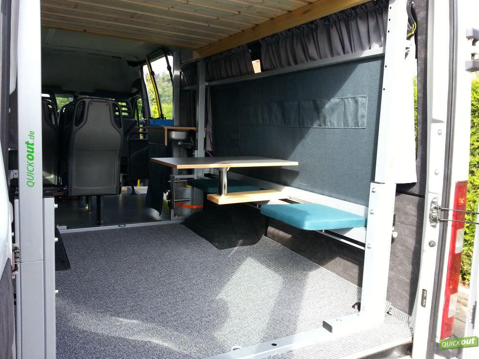 umbau iveco zum wohnmobil quickout wohnmobilausbau. Black Bedroom Furniture Sets. Home Design Ideas