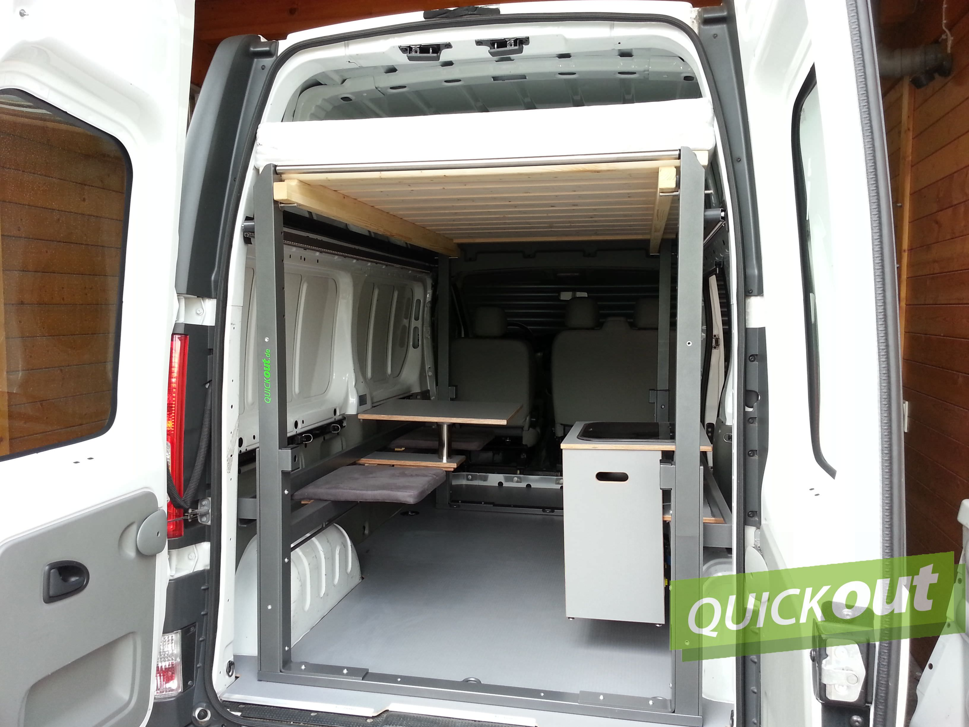 opel vivaro quickout wohnmobilausbau. Black Bedroom Furniture Sets. Home Design Ideas