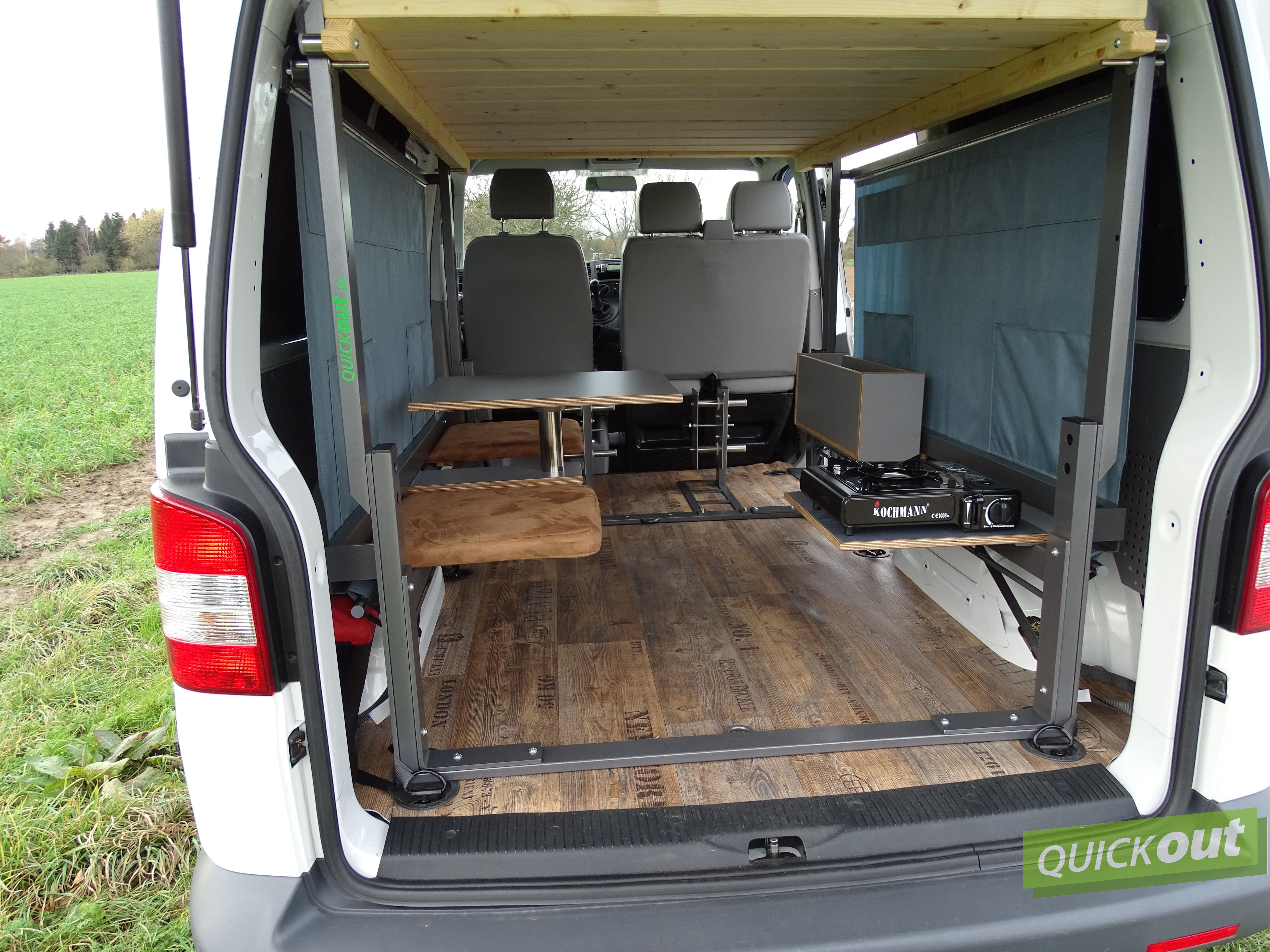 vw t4 quickout wohnmobilausbau. Black Bedroom Furniture Sets. Home Design Ideas